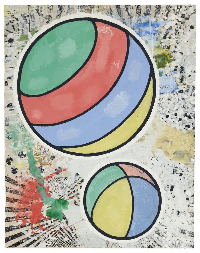 Donald Baechler-Two Balls-2007