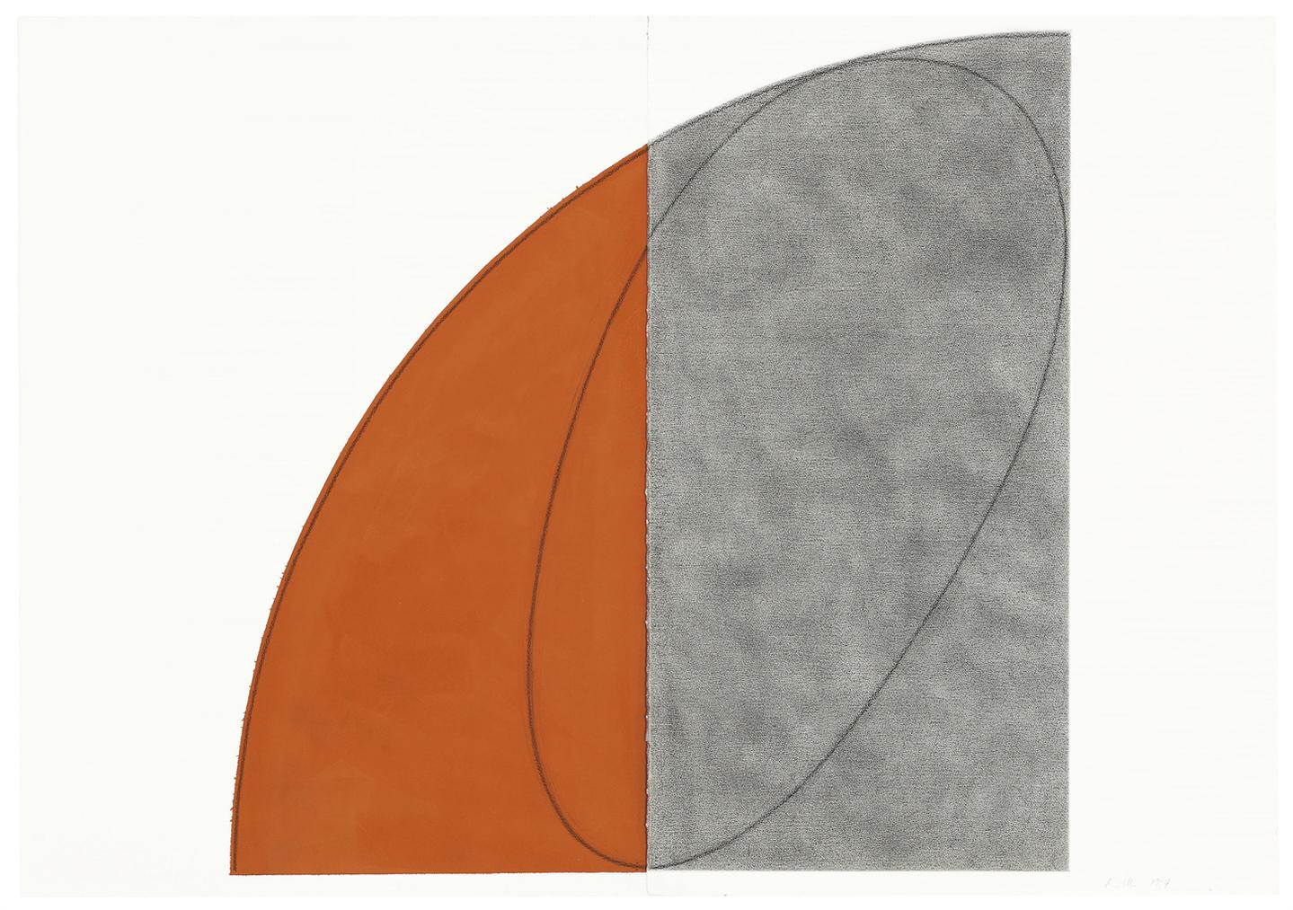 Robert Mangold-Curved Plane/Figure-1994