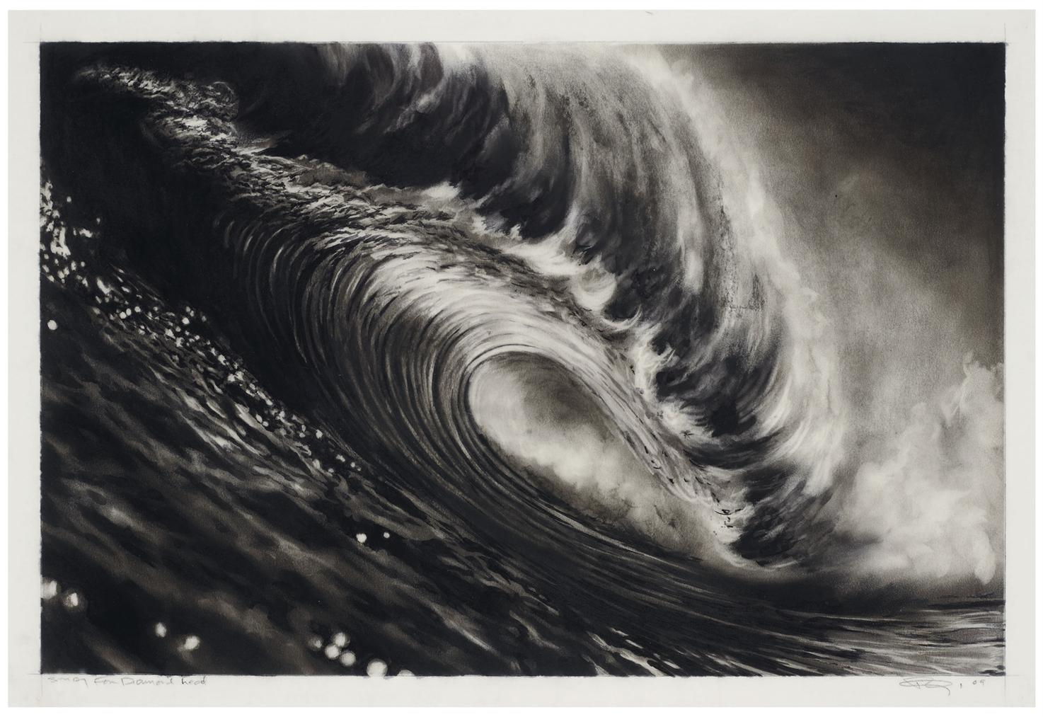 Robert Longo-Study For Diamond Head-2009