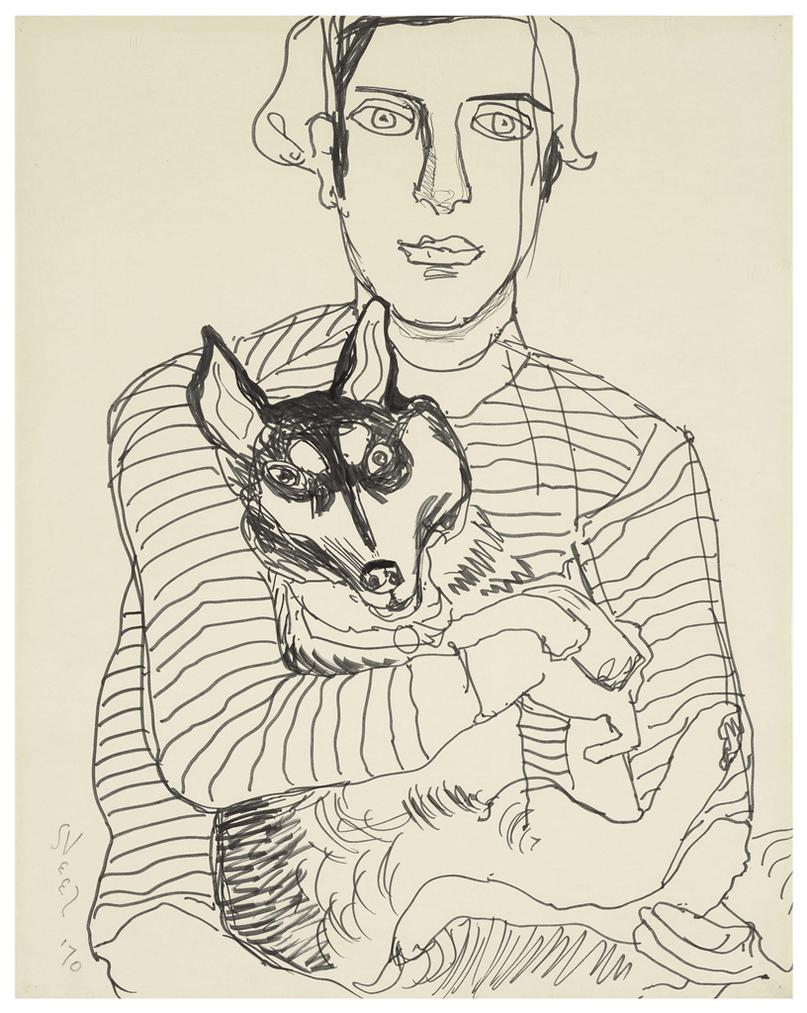 Alice Neel-Hartley And Lushka-1970