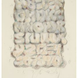 Claes Oldenburg-Study For Soft Alphabet, With Numbers-1975