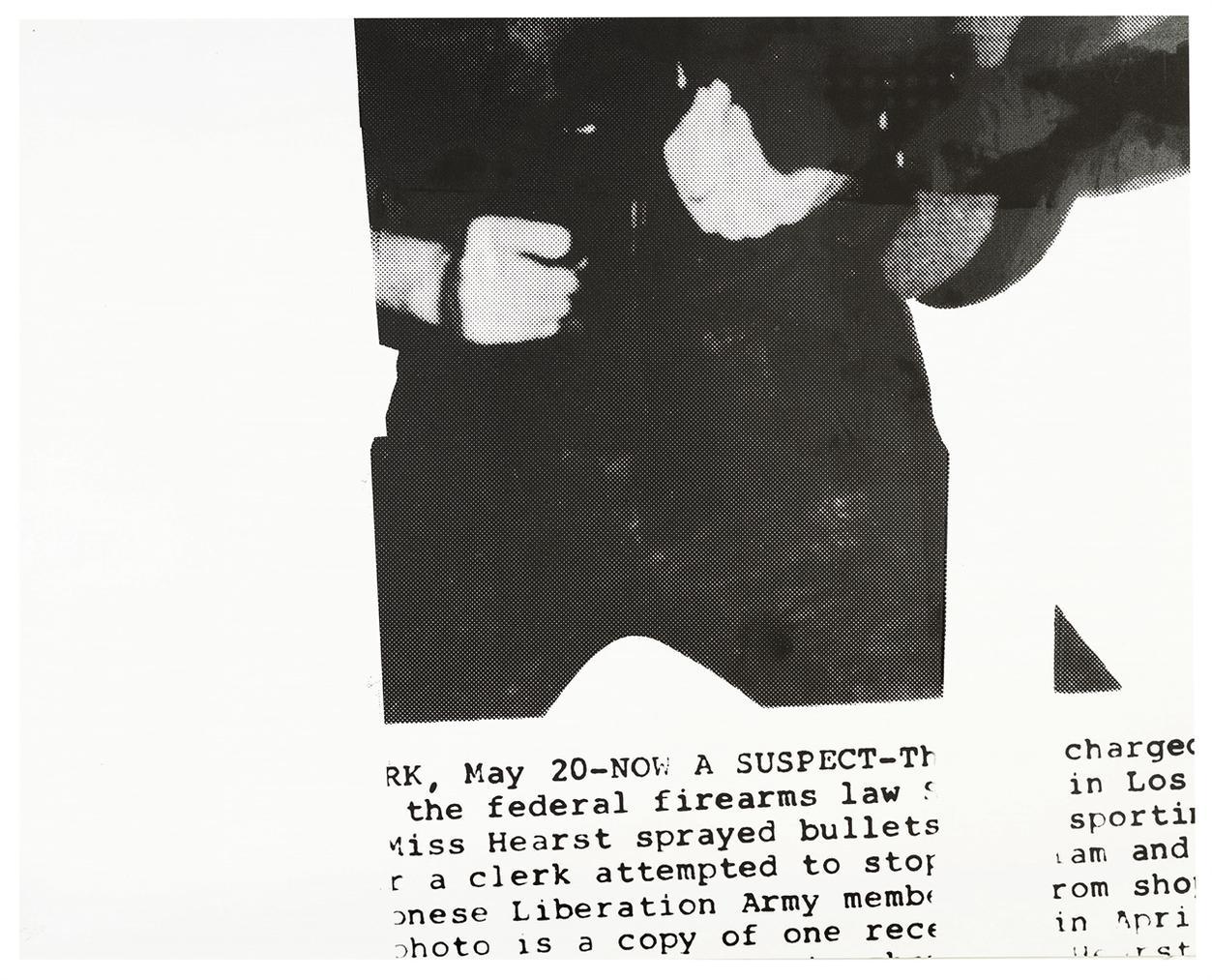 Cady Noland-Untitled (Patty Hearst)-1991