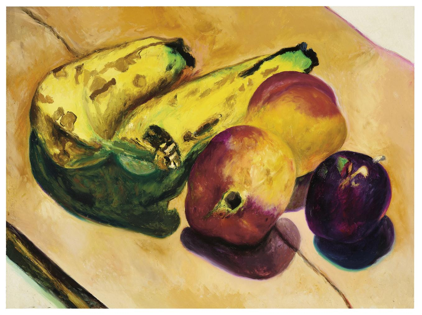 Malcolm Morley-Untitled (Still Life With Fruit)-1979