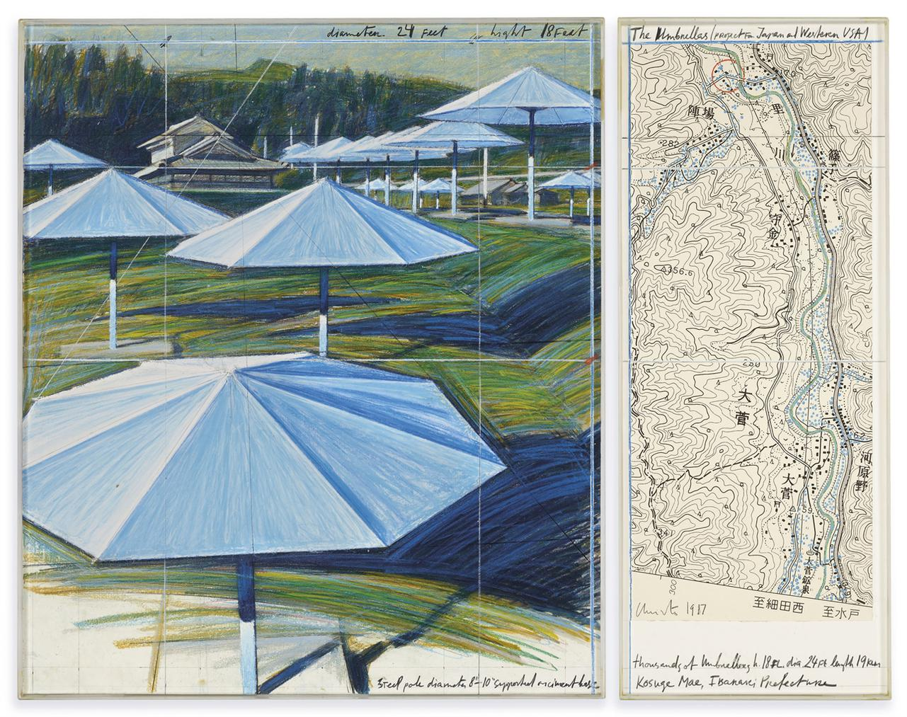 Christo and Jeanne-Claude-The Umbrellas (Project For Japan And Western Usa)-1987