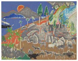 Romare Bearden-Cattle Of The Sun God-1977