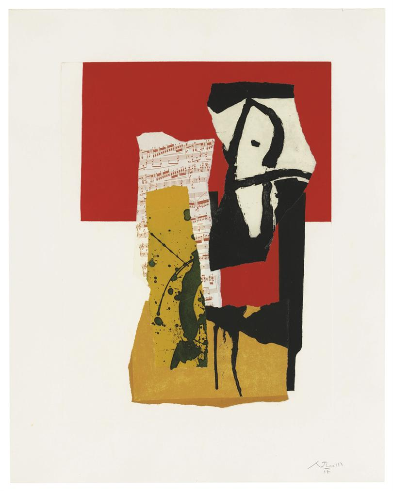 Robert Motherwell-The Red And Black No. 34-1987