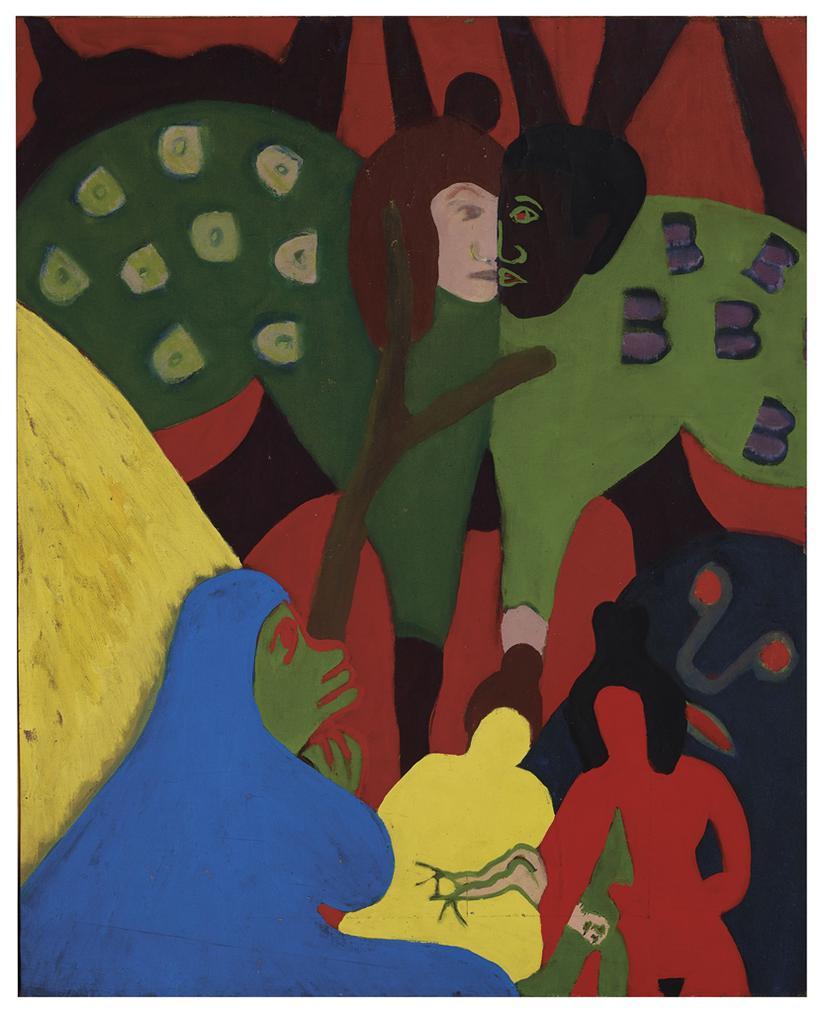 Bob Thompson-Untitled (Seven Figures)-1962