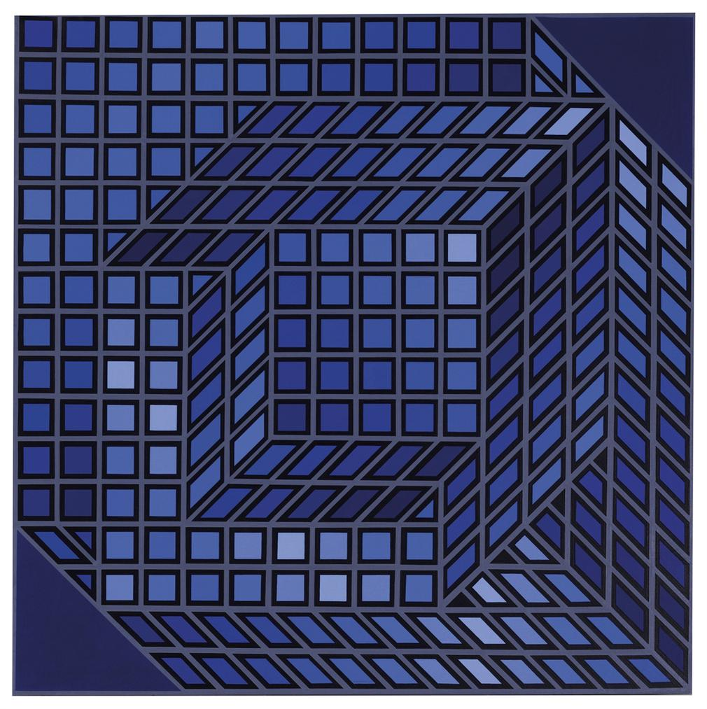 Victor Vasarely-AXO-3-1968