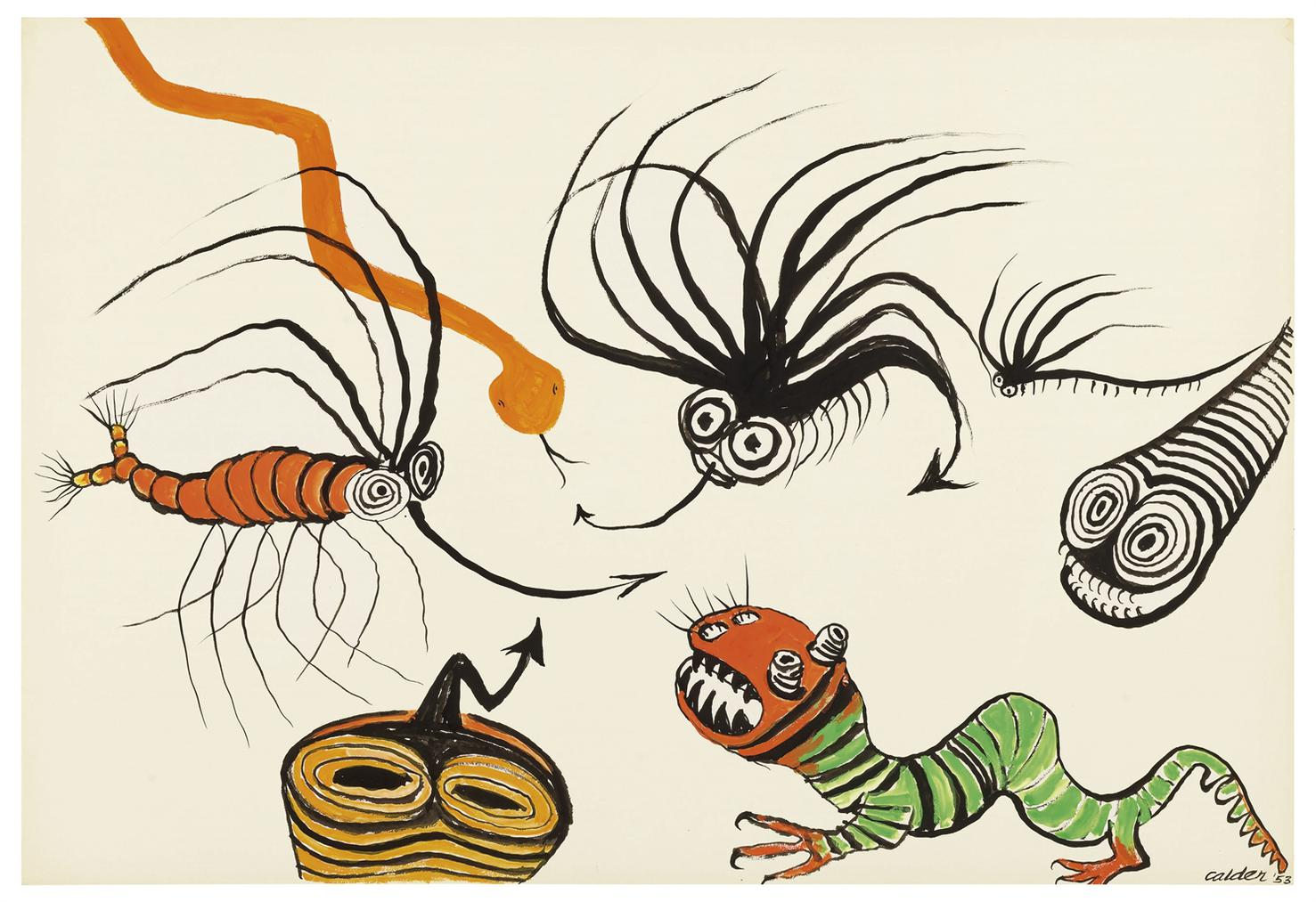 Alexander Calder-Seven Creatures-1953