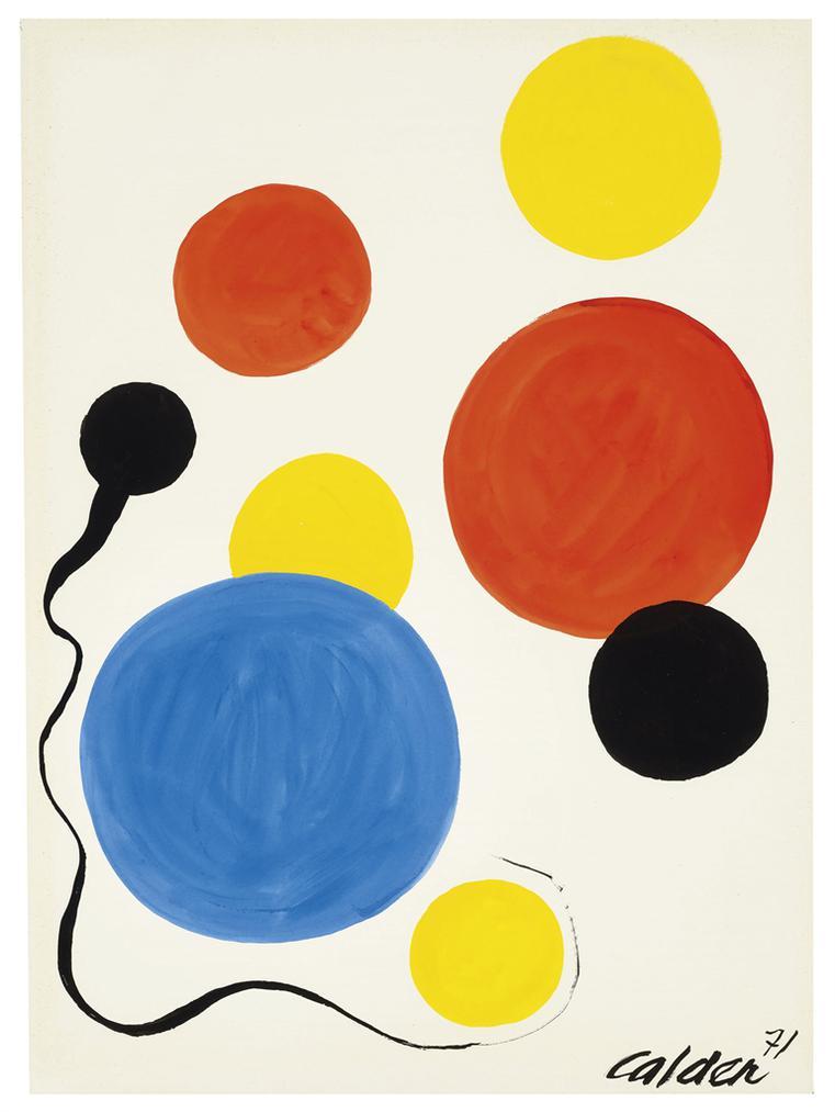 Alexander Calder-Soleils Dor-1971