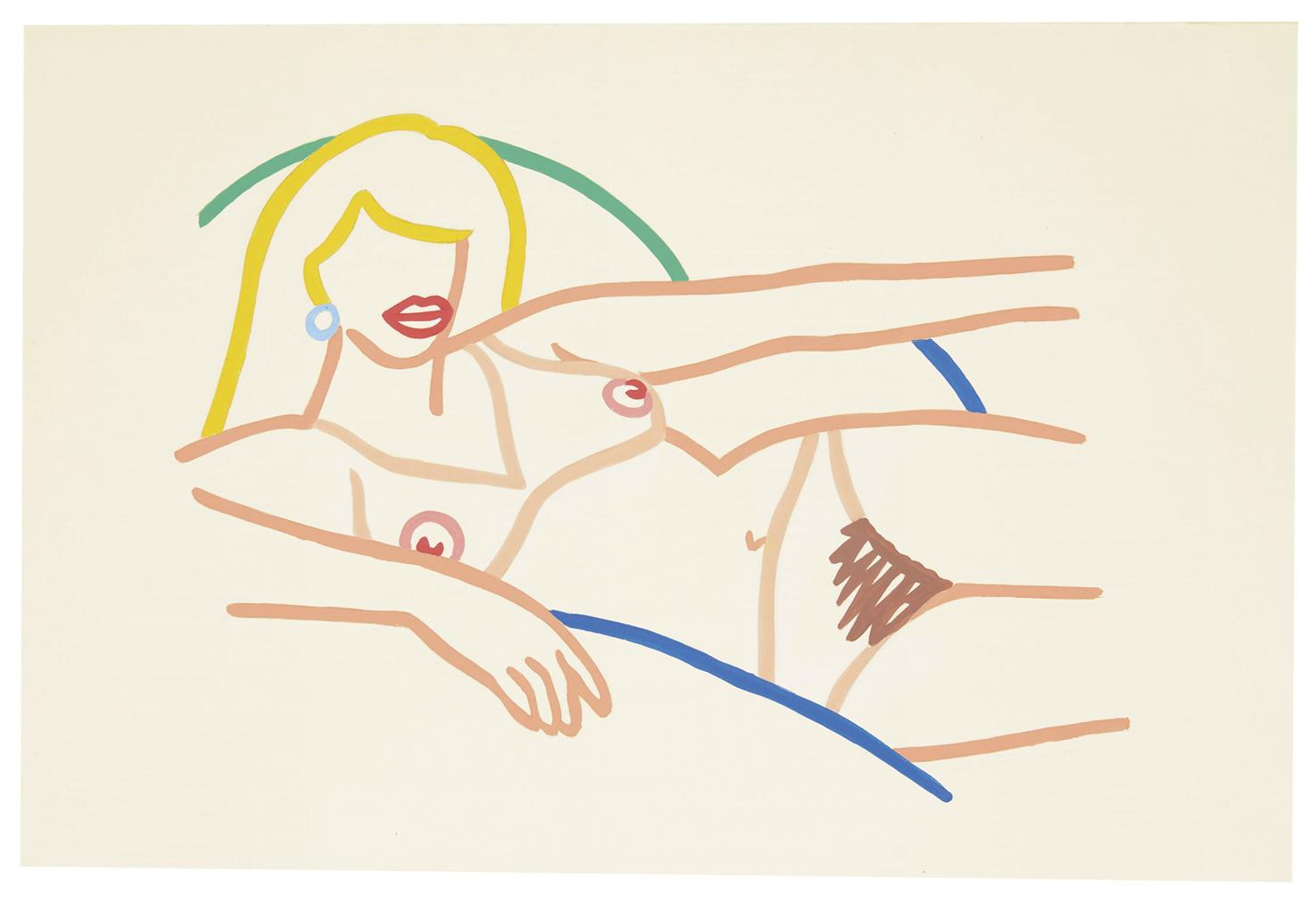 Tom Wesselmann-Study For Kate (Blonde)-1984