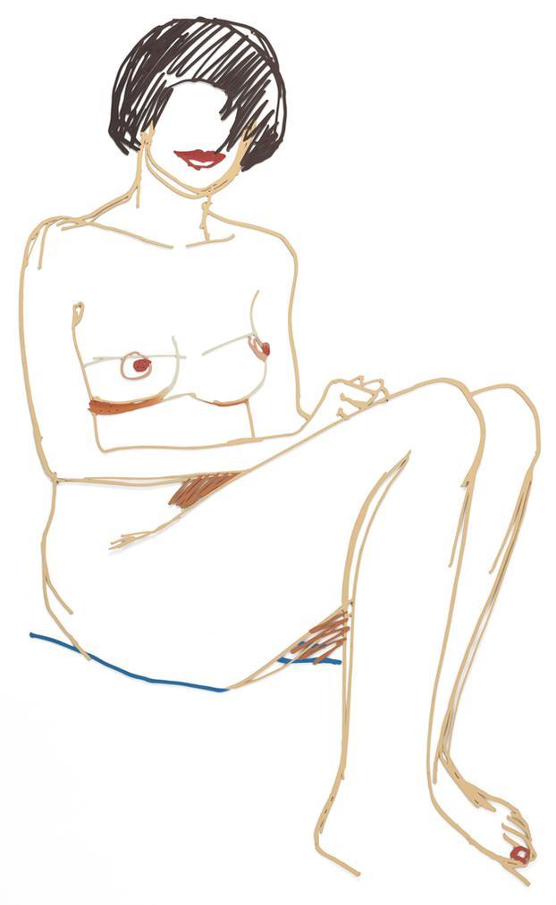 Tom Wesselmann-Seated Nude (# 5)-1985