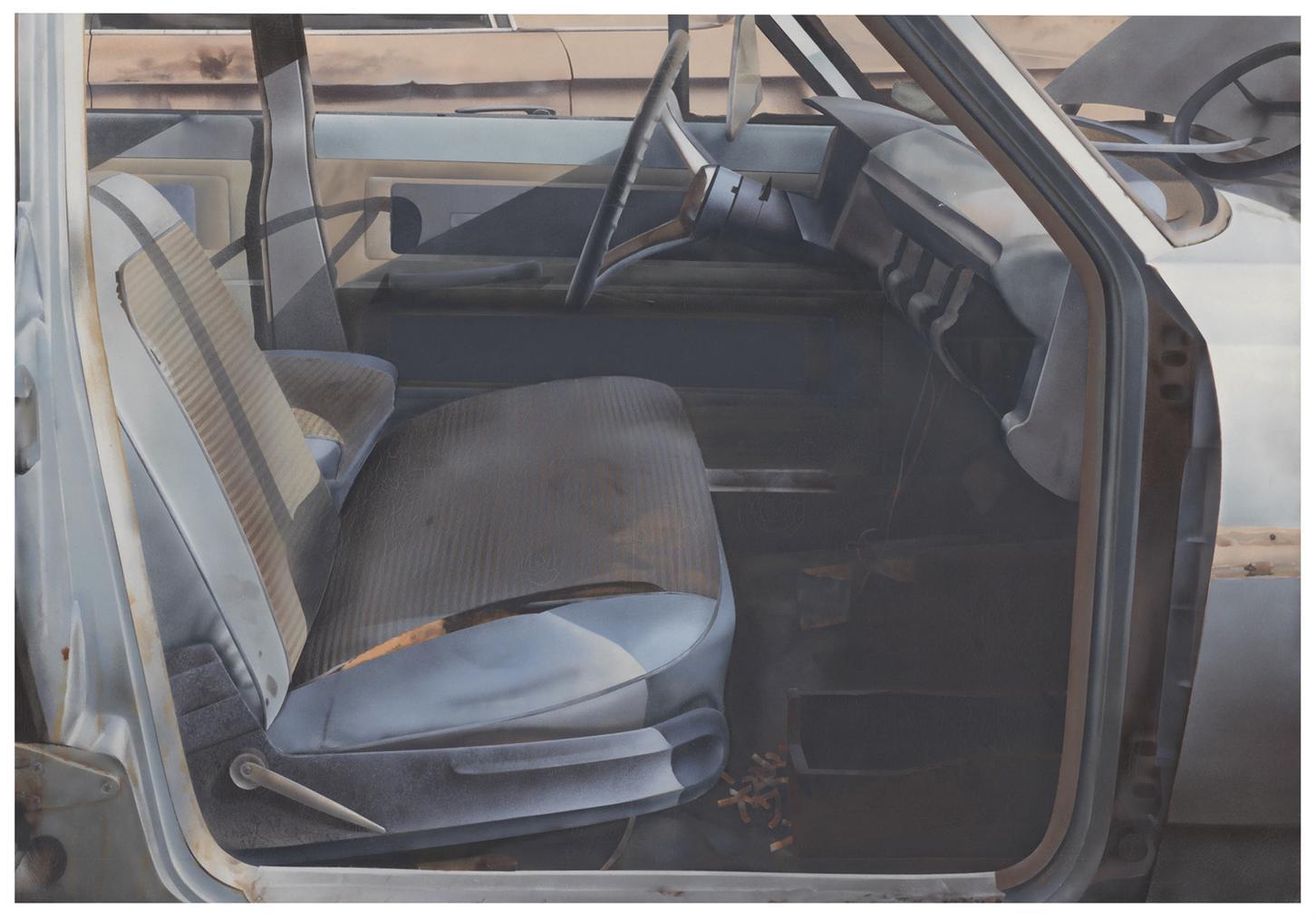 John Salt-Arrested Auto With Blue Seats-1970
