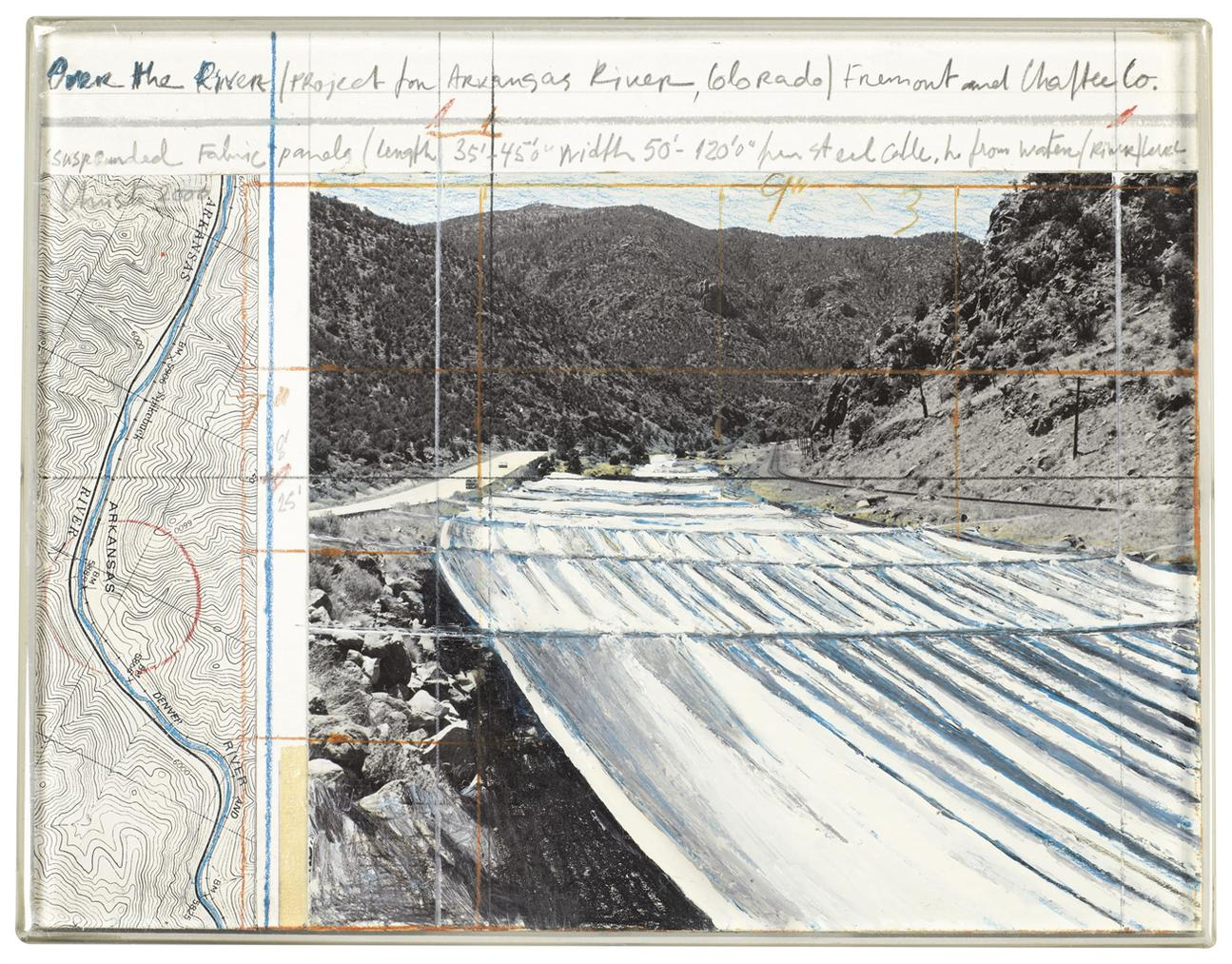 Christo and Jeanne-Claude-Over The River (Project For Arkansas River, Colorado)-2000
