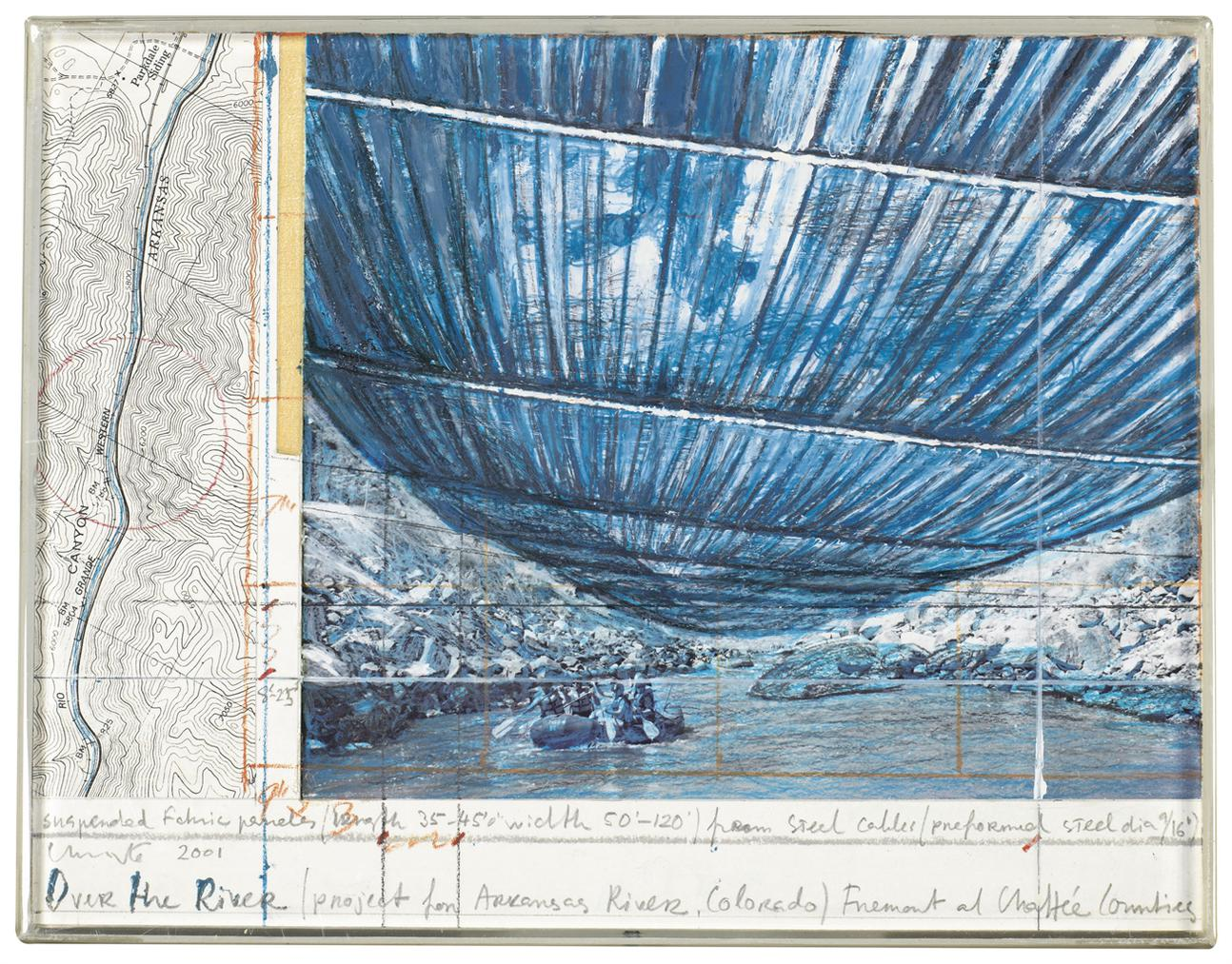 Christo and Jeanne-Claude-Over The River (Project For Arkansas River, Colorado)-2001