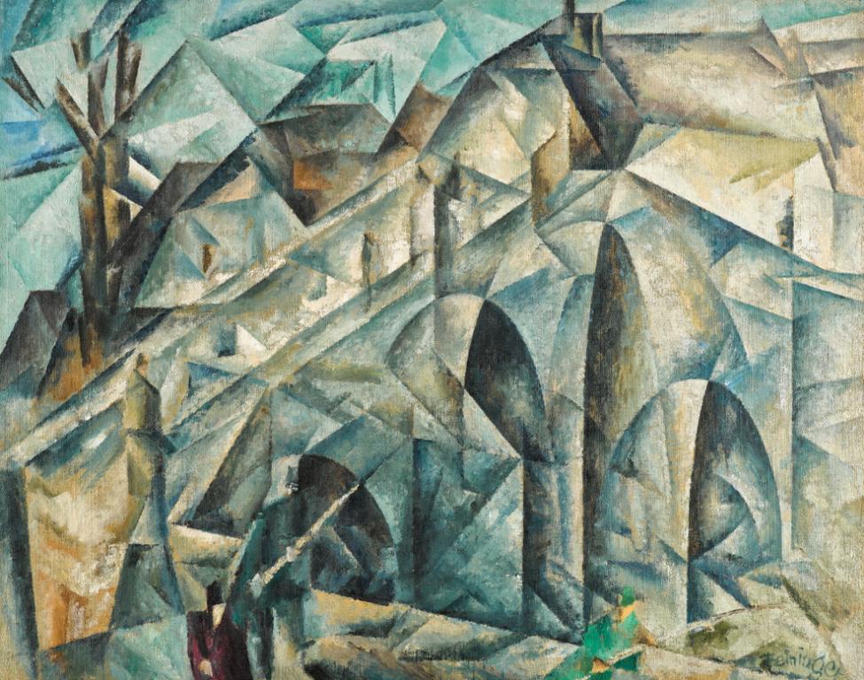 Lyonel Feininger-Brucke II (Bridge II)-1915