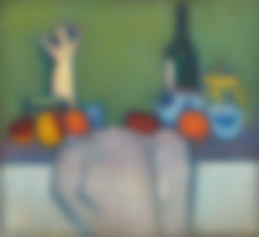 Alexej von Jawlensky-Stilleben Mit Fruchten, Figur Und Flasche (Still-Life With Fruit, Figure And Bottle)-1907