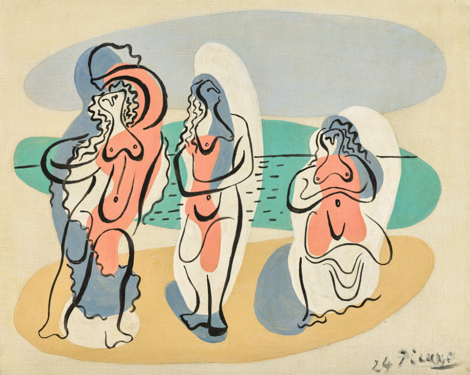 Pablo Picasso-Trois Baigneuses-1924