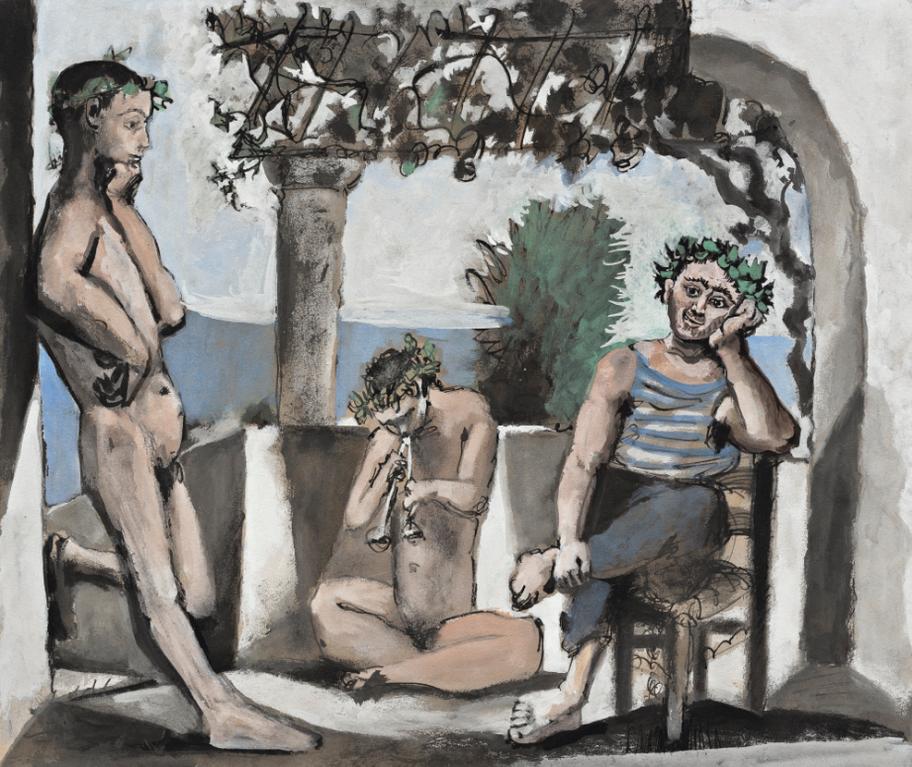 Pablo Picasso-Le Repos Du Faune-1956
