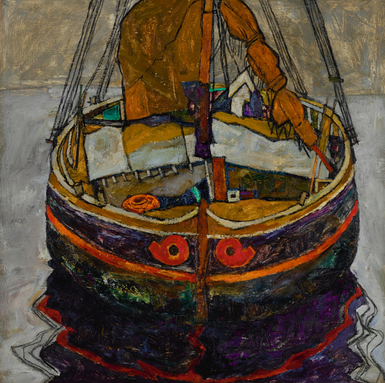 Egon Schiele-Triestiner Fischerboot (Trieste Fishing Boat)-1912