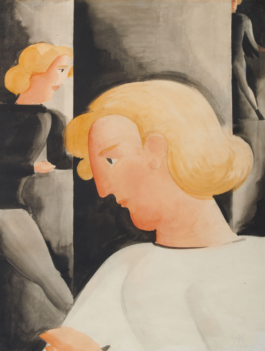 Oskar Schlemmer-Drei Blonde Schrag (Three Blondes Diagonally)-1928