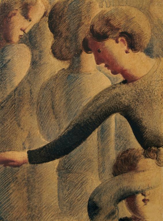 Oskar Schlemmer-Hellgraue Gruppe (Light Grey Group)-1936