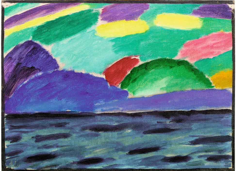 Alexej von Jawlensky-Genfer See Mit Blauem Berg (Lake Geneva With Blue Mountain)-1915