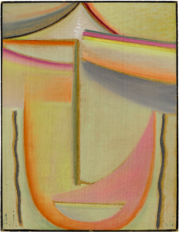 Alexej von Jawlensky-Abstrakter Kopf (Poesie Des Morgens) (Abstract Head (Poetry Of The Morning))-1931