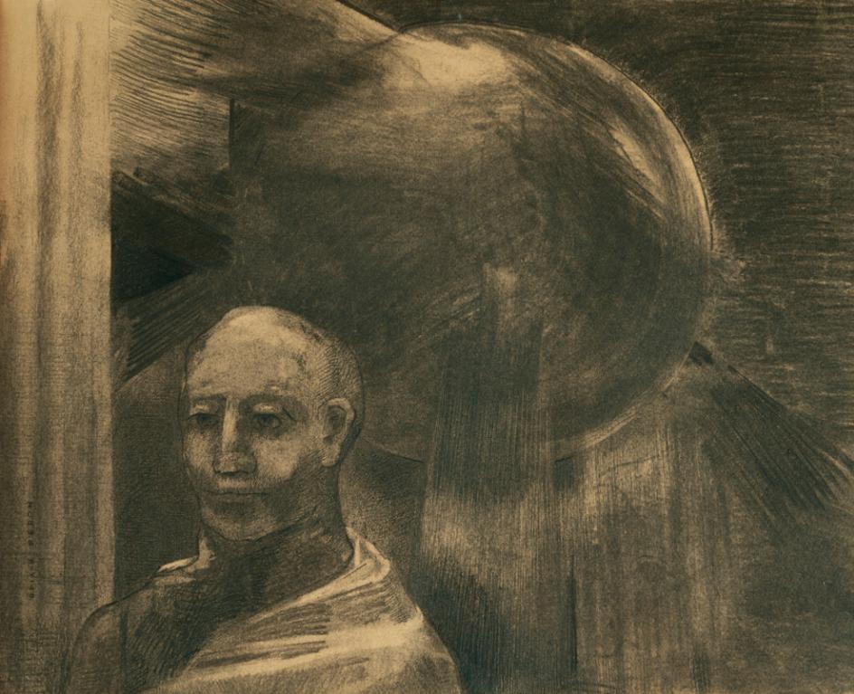 Odilon Redon-Homme Et Sphere-
