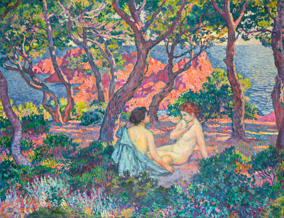 Theo van Rysselberghe-A Lombre Des Pins (Agay) Or Sous Les Pins (Agay)-1905