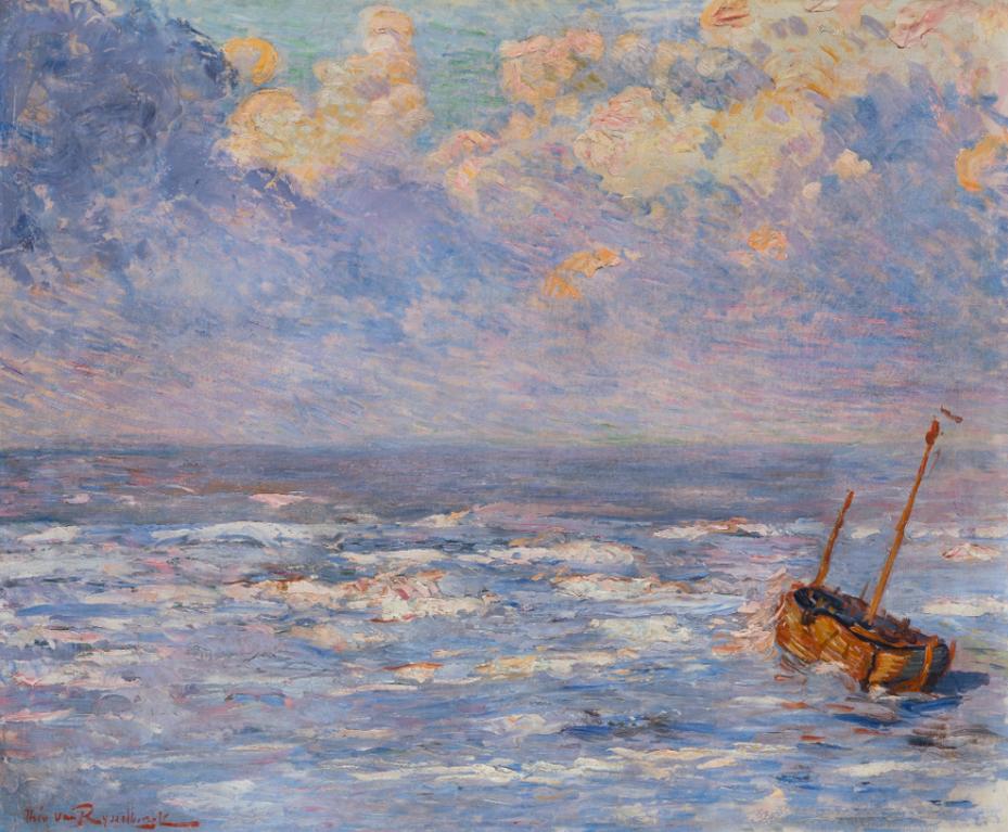 Theo van Rysselberghe-Pluie Fine-1887