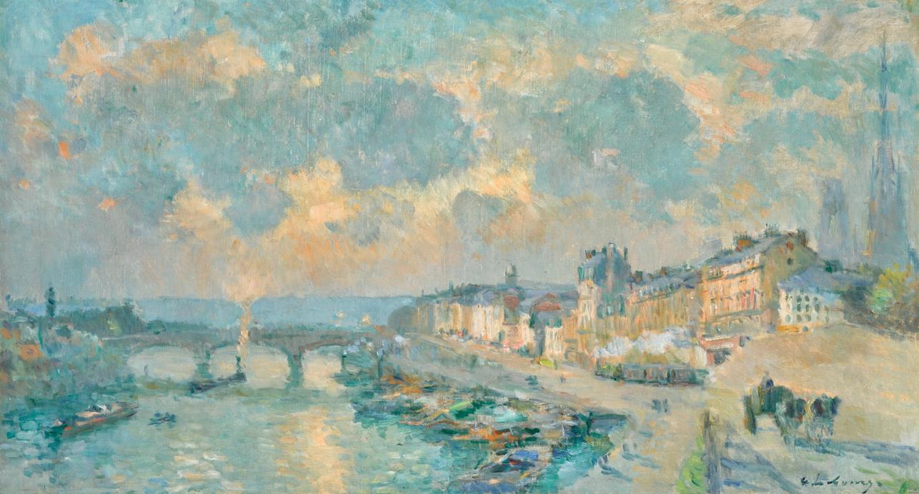 Albert Lebourg-Le Quai De Paris Et Le Pont Corneille A Rouen-1905