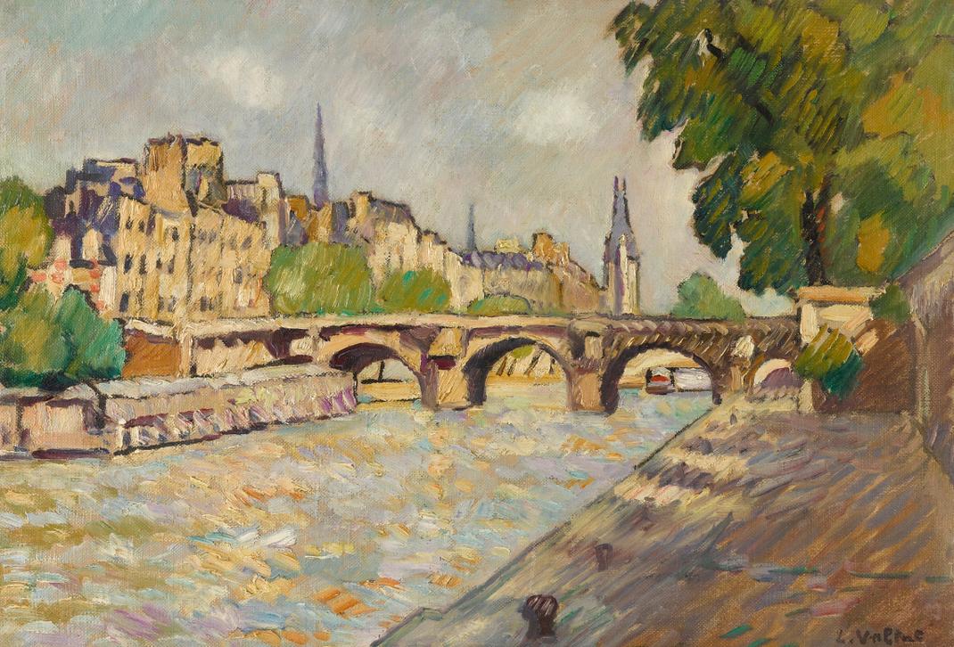 Louis Valtat-Les Quais Et Le Pont-Neuf-1929