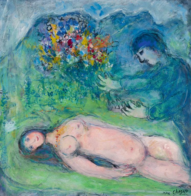 Marc Chagall-Nu A La Montagne-1967