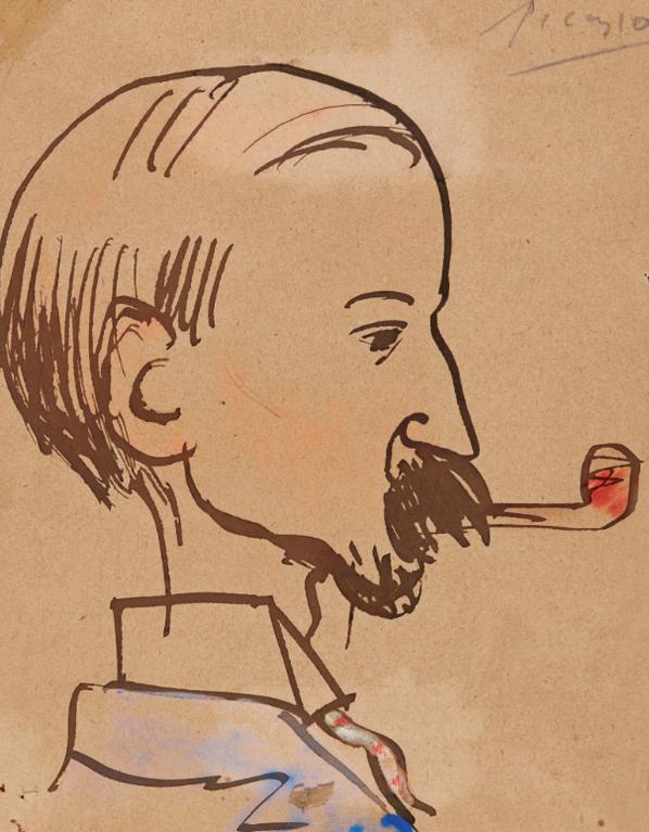Pablo Picasso-Portrait Du Pere Dutrillo-1903