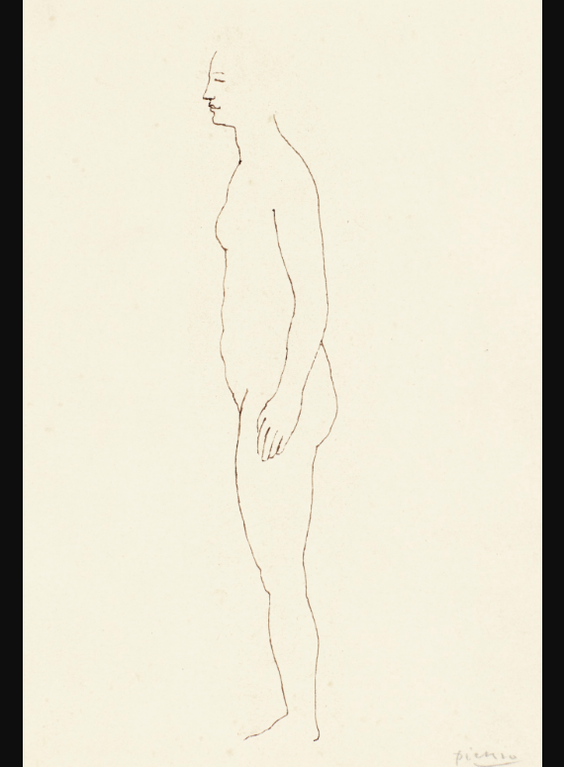 Pablo Picasso-Nu De Profil-1903