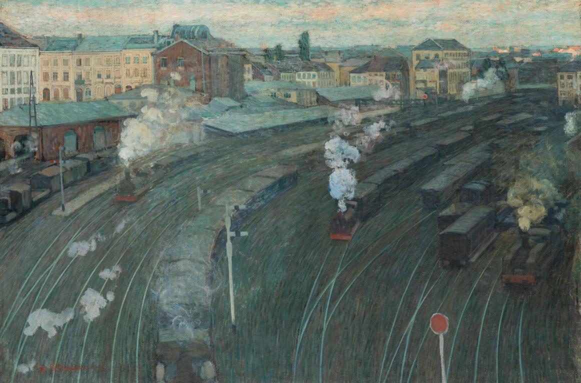 Henri Ottmann - Gare Du Luxembourg, Gel.-1903