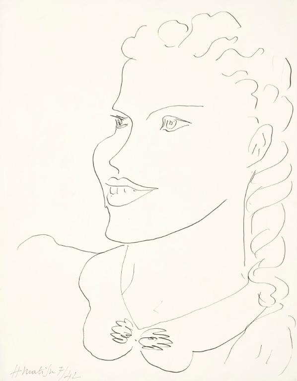 Henri Matisse-Tete De Femme (Portrait De Simone Martin-Vincent)-1942