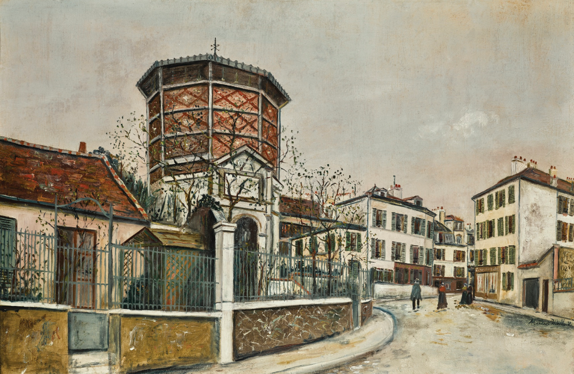Maurice Utrillo-Place Jean-Baptiste-Clement-1918