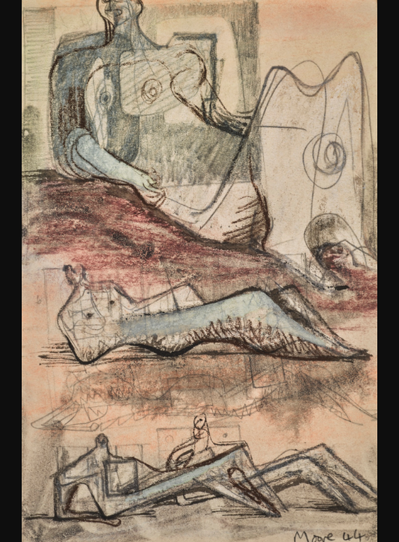 Henry Moore-Studies For Sculpture-1938