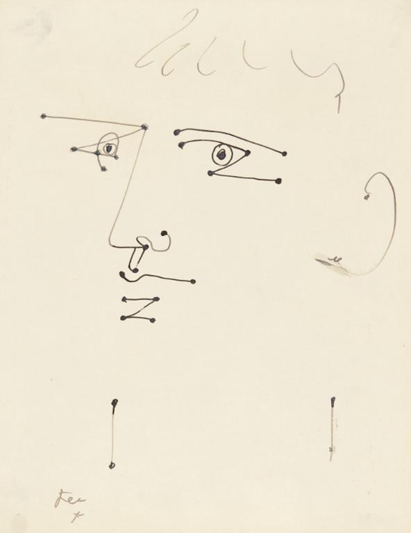 Jean Cocteau-Visage Aux Points-1950