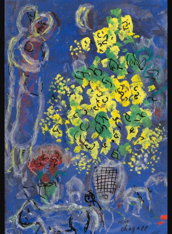 Marc Chagall-Le Bouquet Jaune-1975