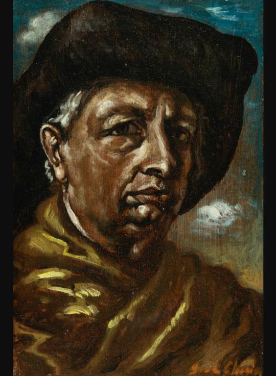 Giorgio de Chirico-Autoritratto (Self-Portrait)-1960