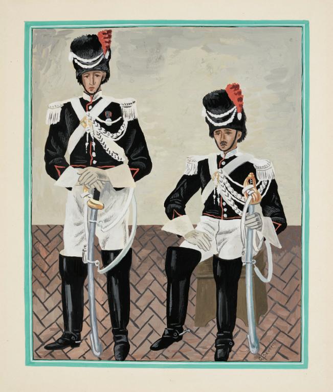 Gino Severini-Gendarmes Pontificaux-1936