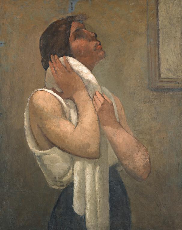Julio Gonzalez-Femme A Sa Toilette (Mujer Aseandose) (Women At Her Toilette)-1925