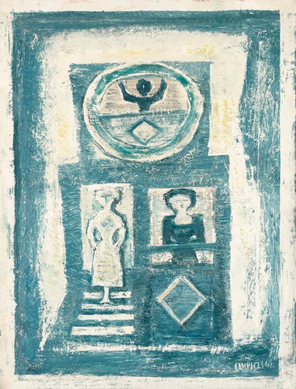 Massimo Campigli-Maison Bleue-1965
