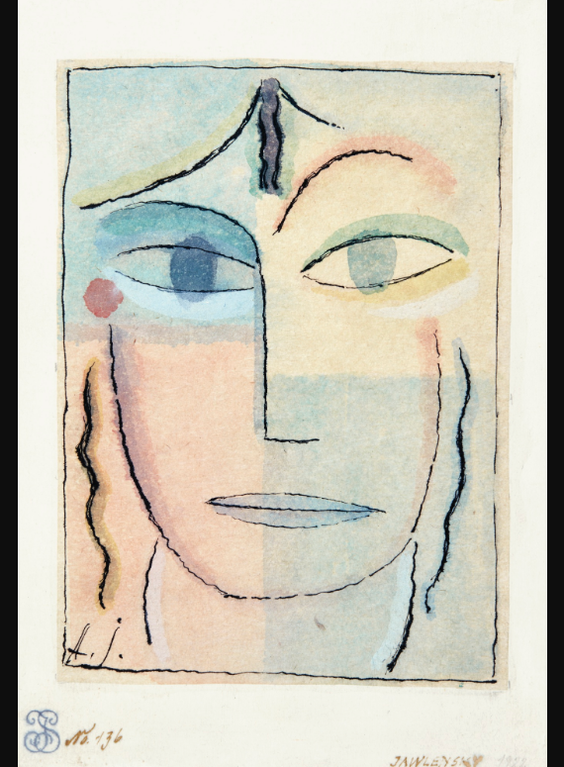 Alexej von Jawlensky-Weiblicher Kopf (Female Head)-1923