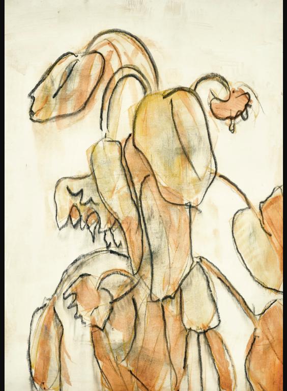 Christian Rohlfs-Verwelkte Sonnenblumen (Wilted Sunflowers)-1936