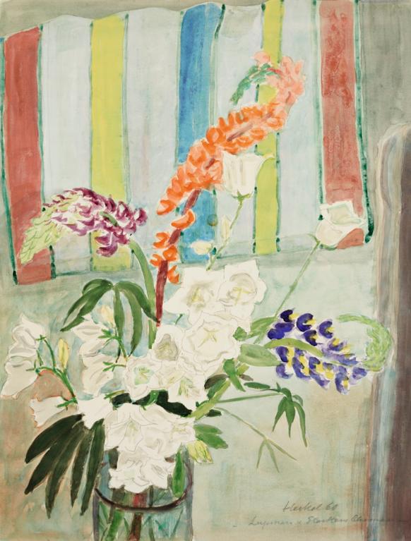 Erich Heckel-Lupinen Und Glockenblumen (Lupins And Bell Flowers)-1960