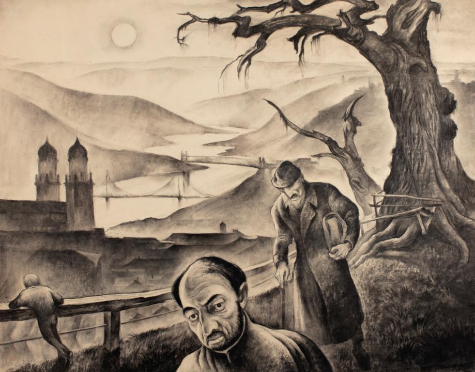 Albert Birkle-Blick Auf Passau (View Of Passau)-1925